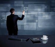 Homem de negócios que apresenta a estratégia na reunião Foto de Stock