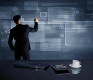 Homem de negócios que apresenta a estratégia na reunião Imagem de Stock Royalty Free