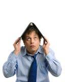 Homem de negócios que cobre acima pelo arquivo Imagem de Stock