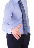 Homem de negócios que dá a mão. imagens de stock