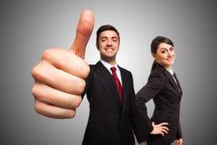 Homem de negócios que dá os polegares acima Foto de Stock Royalty Free