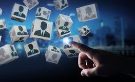 Homem de negócios que escolhe o candidato para uma rendição do trabalho 3D Foto de Stock
