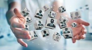 Homem de negócios que escolhe o candidato para uma rendição do trabalho 3D Imagens de Stock Royalty Free