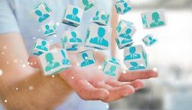 Homem de negócios que escolhe o candidato para uma rendição do trabalho 3D Imagem de Stock Royalty Free