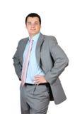 Homem de negócios que está confiàvel Fotografia de Stock Royalty Free