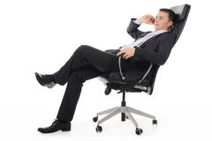 Homem de negócios que fala no telefone fotos de stock royalty free