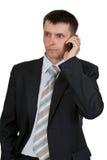 Homem de negócios que fala no telefone Foto de Stock Royalty Free