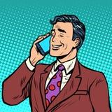 Homem de negócios que fala no telefone ilustração do vetor