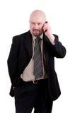 Homem de negócios que fala no telemóvel Imagens de Stock Royalty Free