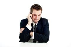 Homem de negócios que fala pelo telefone Foto de Stock