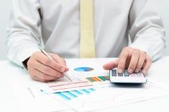 Cálculo de negócio Imagens de Stock
