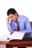 Homem de negócios que faz decisões Foto de Stock
