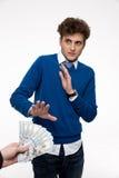 Homem de negócios que gesticula o sinal da parada Imagens de Stock Royalty Free