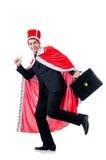 Homem de negócios que joga o rei Fotografia de Stock