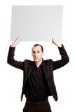 Homem de negócios que mostra algo Imagens de Stock