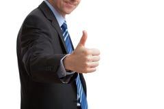 Homem de negócios que mostra está bem Fotografia de Stock Royalty Free