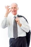 Homem de negócios que mostra o sinal aprovado Imagens de Stock Royalty Free