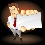 Homem de negócios que mostra sua identificação Imagens de Stock