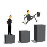 Homem de negócios que move-se para a frente não importa o que Imagens de Stock Royalty Free