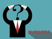 Homem de negócios que pensa sobre o negócio Fotografia de Stock