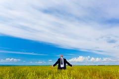 Homem de negócios que relaxa Fotografia de Stock