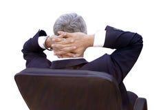 Homem de negócios que relaxa Imagem de Stock Royalty Free