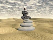 Homem de negócios que relaxa - 3D rendem Fotos de Stock Royalty Free