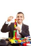 Homem de negócios que tem o divertimento Foto de Stock Royalty Free