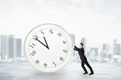 Homem de negócios que tenta ao conceito do tempo de parada Imagens de Stock Royalty Free