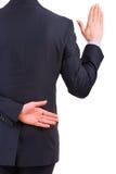 Homem de negócios que toma o juramento. fotografia de stock royalty free