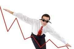 Homem de negócios que vai para baixo Fotos de Stock