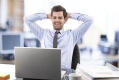 Homem de negócios relaxado Imagens de Stock