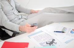 Homem de negócios Relaxed Fotografia de Stock