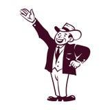 Homem de negócios retro ilustração royalty free