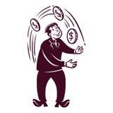 Homem de negócios retro ilustração stock