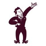 Homem de negócios retro ilustração do vetor