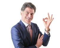 Homem de negócios rico elegante Fotografia de Stock Royalty Free