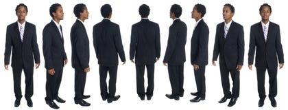 Homem de negócios - rotação cheia foto de stock