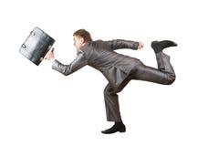 Homem de negócios Running com pasta Imagens de Stock Royalty Free