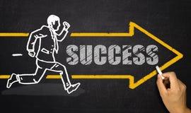 Homem de negócios running; conceito do sucesso Imagem de Stock