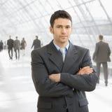 Homem de negócios sério fotografia de stock royalty free