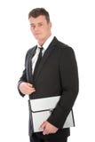 Homem de negócios sério em um terno Foto de Stock Royalty Free
