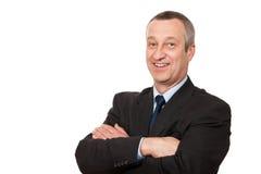 Homem de negócios sênior de sorriso Imagens de Stock