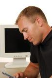 Homem de negócios satisfeito Imagem de Stock