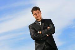 Homem de negócios satisfeito Fotos de Stock Royalty Free