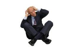 Homem de negócios Scared fotos de stock royalty free