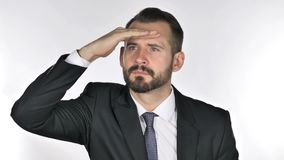 Homem de negócios Searching New Chance da barba filme