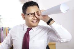 Homem de negócios Sees Vision Concept fotos de stock royalty free