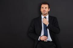Homem de negócios seguro imagens de stock royalty free