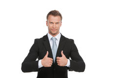 Homem de negócios seguro. imagens de stock royalty free